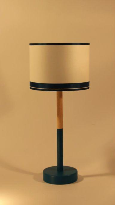bois bleu canard lampe poser bleu bois l 39 atelier. Black Bedroom Furniture Sets. Home Design Ideas