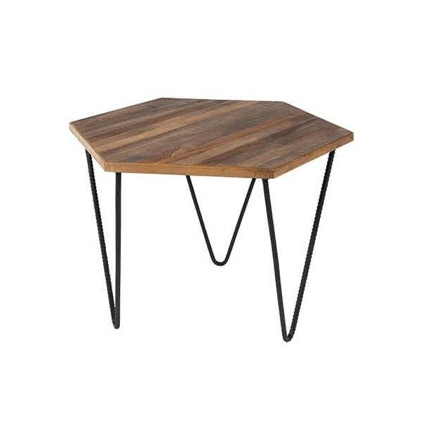 table basse en teck polygone table basse forme originale. Black Bedroom Furniture Sets. Home Design Ideas