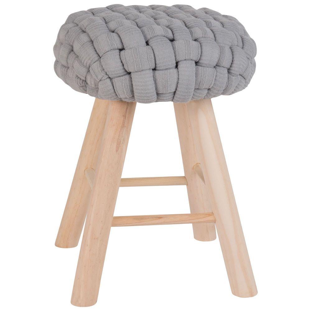 tabouret bleu gris et pieds en pintabouret gris. Black Bedroom Furniture Sets. Home Design Ideas