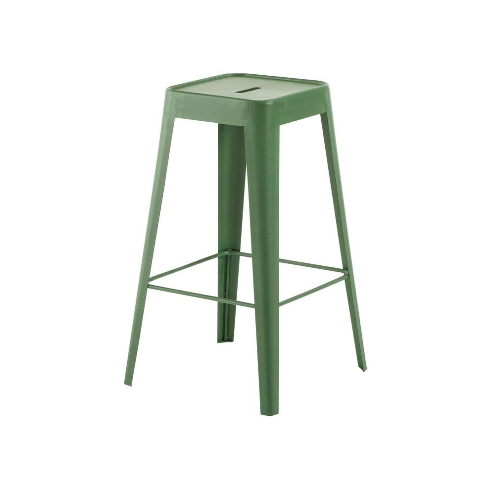 tabouret de bar indus en m tal vert tomtabouret de bar. Black Bedroom Furniture Sets. Home Design Ideas