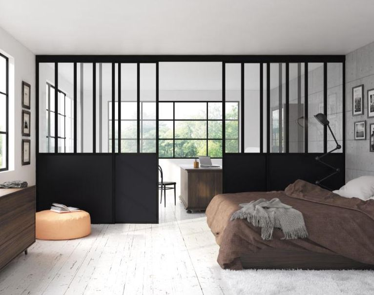 s paration de pi ces transparent verre coulidoor. Black Bedroom Furniture Sets. Home Design Ideas