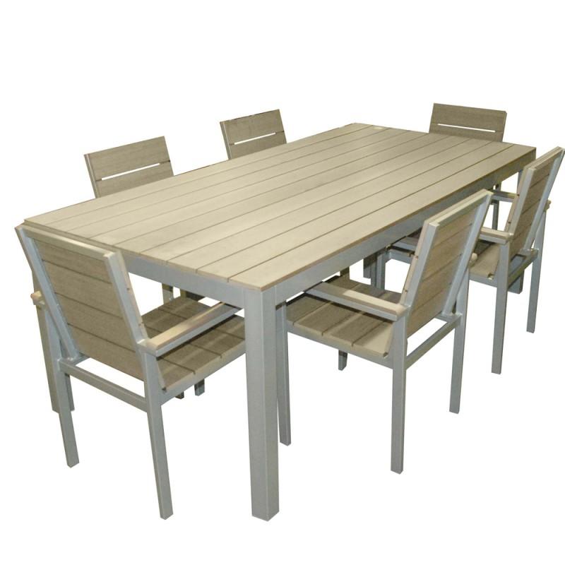 Salon de jardin en polywood et alu - Salle à manger de ...