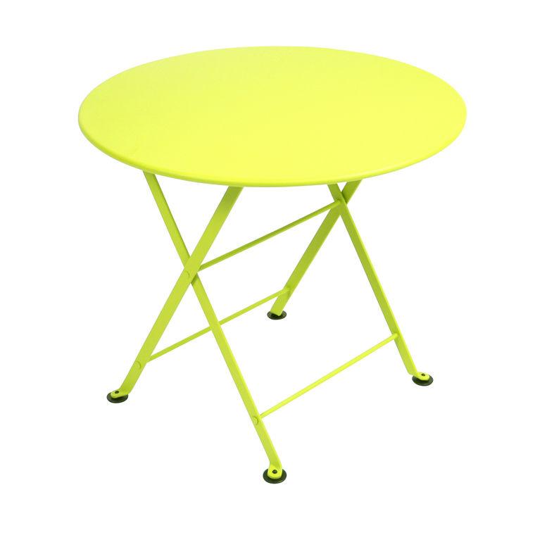 Table basse en acier couleur VerveineTable de jardin pliante - Fermob