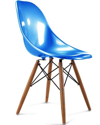 Charles & Ray Eames - Chaise réception-Charles & Ray Eames-Chaise bleu design Eiffel SW Charles Eames Lot de