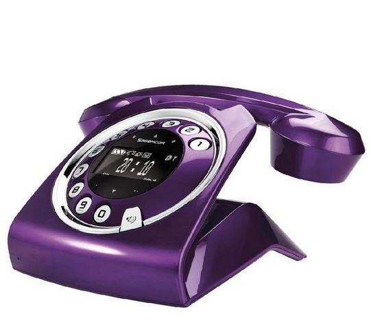 SAGEMCOM - Téléphone-SAGEMCOM-SIXTY prune - Tlphone rpondeur DECT