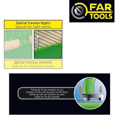 FARTOOLS - Coupe-bordure-FARTOOLS-Coupe bordure 320 watts 380 mm Fartools