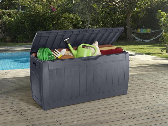 Chalet & Jardin - Coffre de jardin-Chalet & Jardin-Coffre de jardin mexico 270 litres en résine aspec