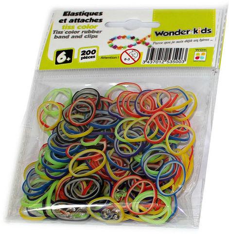 WONDER KIDS - Bracelets caoutchouc-WONDER KIDS-Recharges elastiques bicolores pour bracelets tiss