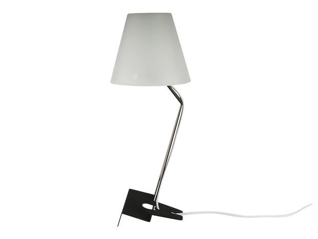 Pilus - Lampe à poser-Pilus-Lampe à poser en métal noir pour tablette tactile