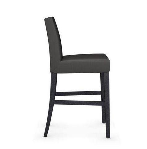 Calligaris - Chaise haute de bar-Calligaris-Chaise de bar LATINA de CALLIGARIS gris foncé et h