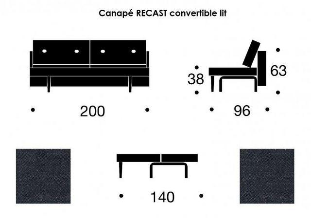 INNOVATION - Banquette clic clac-INNOVATION-Canapé convertible lit RECAST bleu nist 200*140