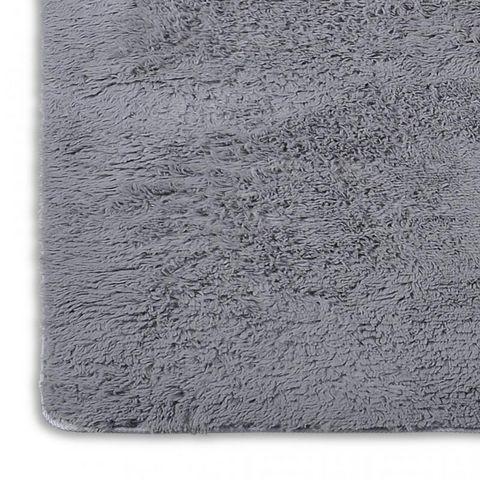 Tapis salon gris poil long taille l tapis contemporain white label - Tapis salon poil long ...