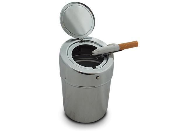 WHITE LABEL - Cendrier-WHITE LABEL-Magnifique cendrier portable chromé accessoire fum