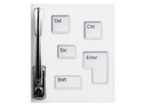 WHITE LABEL - Magnet-WHITE LABEL-Lot de 5 aimants touches de clavier objet deco mai