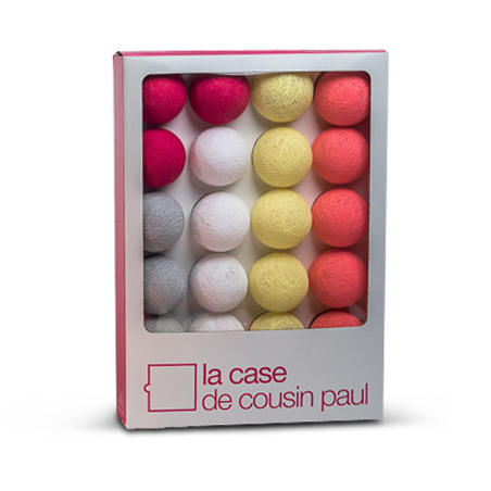 LA CASE DE COUSIN PAUL - Guirlande lumineuse-LA CASE DE COUSIN PAUL-QUEEN CHARLOTTE - Coffret Guirlande lumineuse Rose