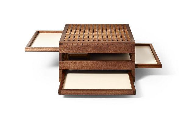 Sculptures-Jeux - Table basse avec plateau escamotable-Sculptures-Jeux-Tetra