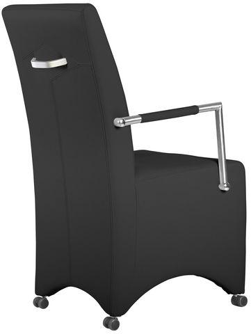 COMFORIUM - Fauteuil-COMFORIUM-Lot de 2 chaises à roulette ultra moderne noir