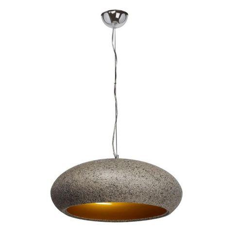 REGENBOGEN - Suspension-REGENBOGEN-Suspension effet granit ronde grise