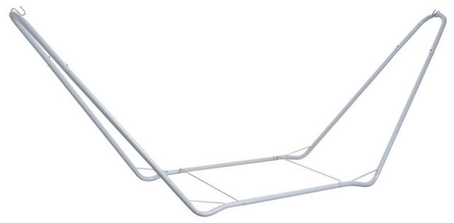 Aubry-Gaspard - Support hamac-Aubry-Gaspard-Support pour hamac en métal laqué blanc