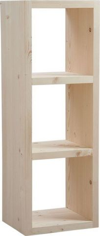 Aubry-Gaspard - Etagère-Aubry-Gaspard-Cubes de rangement en bois brut 3 cases