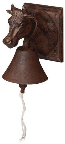 Esschert Design - Cloche d'extérieur-Esschert Design-Cloche de porte fonte tête vache