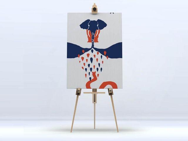 la Magie dans l'Image - Impression numérique sur toile-la Magie dans l'Image-Toile L'Éléphant