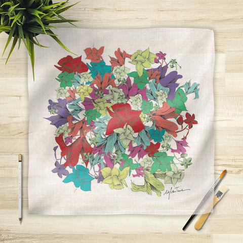 la Magie dans l'Image - Foulard Carré-la Magie dans l'Image-Foulard Fleurs motif