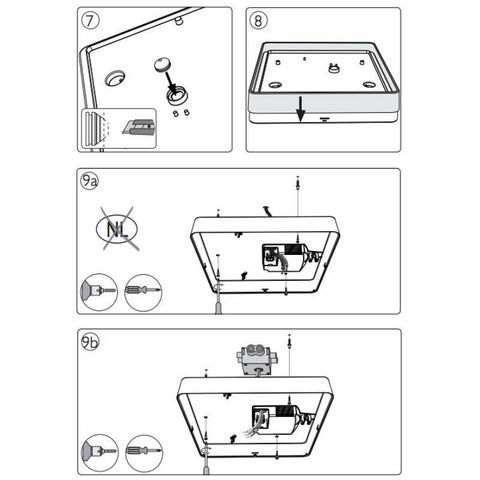 Philips - Plafonnier-Philips-Plafonnier carré salle de bain Plano C44 cm IP44