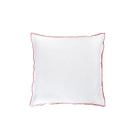 BLANC CERISE - Housse de coussin-BLANC CERISE-Drap housse - percale (80 fils/cm²) - uni moka
