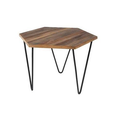 Mathi Design - Table basse forme originale-Mathi Design-Table basse en teck Polygone
