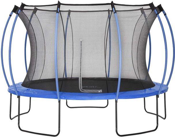 Plum - Trampoline-Plum-Trampoline Junior avec protection réversible bleu