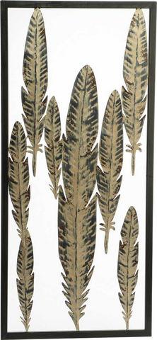 Amadeus - Tableau décoratif-Amadeus-Cadre déco plumes en métal