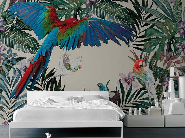 INKIOSTRO BIANCO - Papier peint panoramique-INKIOSTRO BIANCO-Parrots