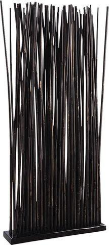Aubry-Gaspard - Paravent-Aubry-Gaspard-Paravent 34 tiges de bambou patiné noir