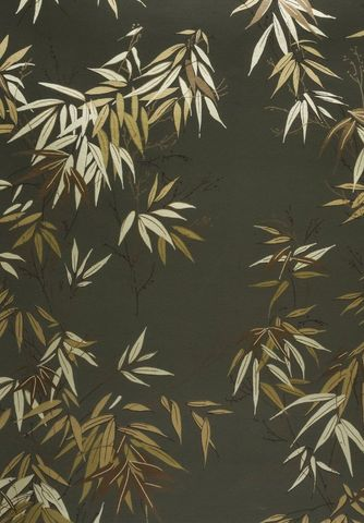 ISIDORE LEROY - Tapisserie-ISIDORE LEROY-Bambous Vert doré