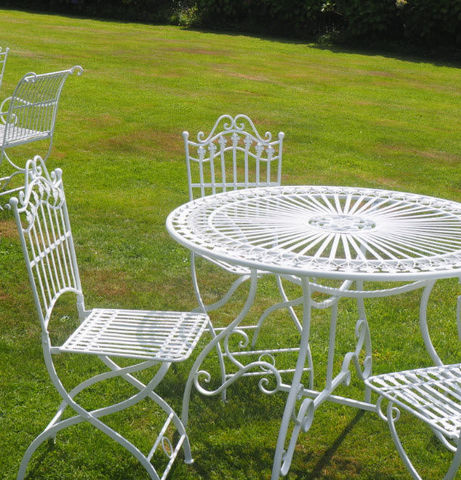Demeure et Jardin - Table de jardin ronde-Demeure et Jardin