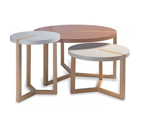 Duvivier Canapés - Table basse ronde-Duvivier Canapés-Triolet