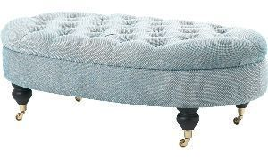 The English House - Footstool-The English House-Clanfield Buttoned Footstool