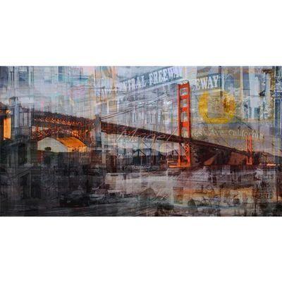 Magel'design - Tableau contemporain-Magel'design-Cisco Bridge 150x80 cm , 3D effet relief