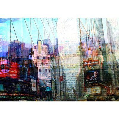 Magel'design - Tableau contemporain-Magel'design-New York  Paper Time 120x80 cm , 3D effet relief