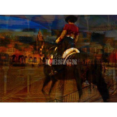Magel'design - Tableau contemporain-Magel'design-Le Sévillan 120x80 cm , 3D effet relief