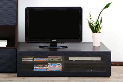 Miliboo - Meuble tv hi fi-Miliboo-SYMBIOSIS MEUBLE TV CHOCOLAT