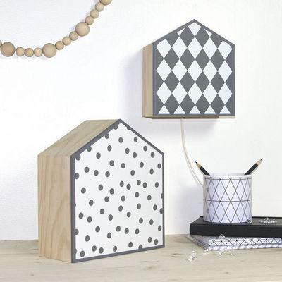 Art et Loupiote - Lampe � poser-Art et Loupiote-noir et blanc
