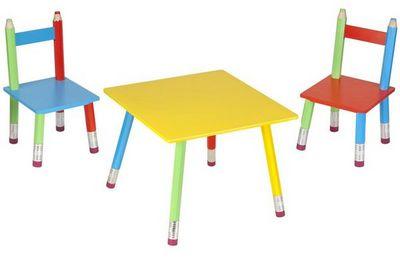 La Chaise Longue - Table de jeux pour enfant-La Chaise Longue-Salon pour enfant Crayons
