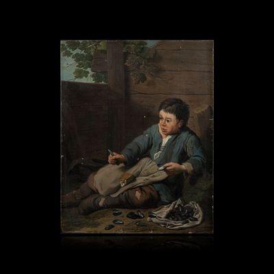 Expertissim - Tableau décoratif-Expertissim-Jan Josef HOREMANS le jeune. L'ouvreur de moules