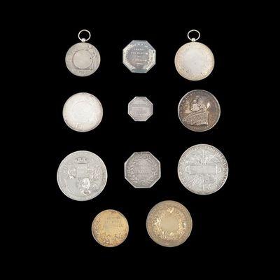 Expertissim - Médaille-Expertissim-Onze médailles en argent des XIXe et XXe siècles