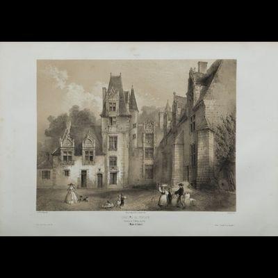 Expertissim - Lithographie-Expertissim-ANJOU. Ensemble de cinquante-cinq vues lithographi