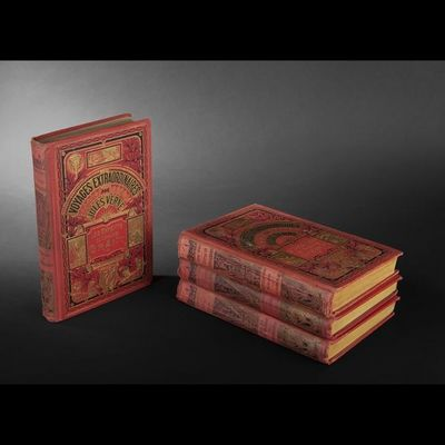 Expertissim - Livre ancien-Expertissim-VERNE (Jules). Ensemble de 4 volumes
