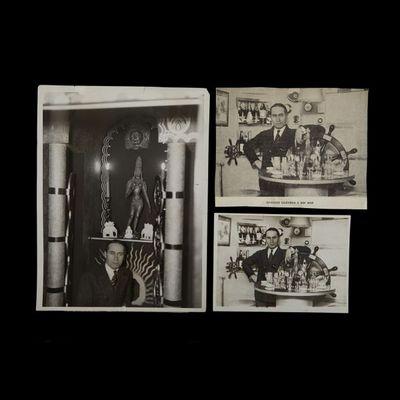 Expertissim - Photographie-Expertissim-DEKOBRA Maurice (1885-1973) chez lui, dans son app