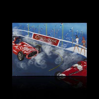 Expertissim - Tableau contemporain-Expertissim-Jean WALLIS. Grand Prix de Monte Carlo